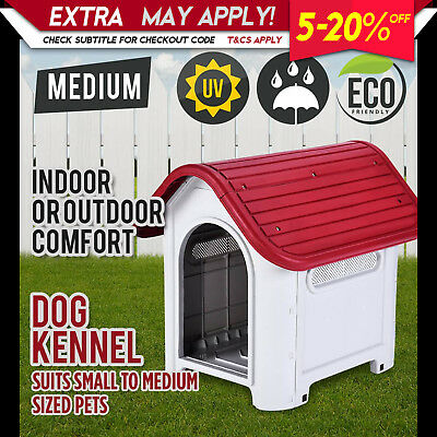 New Pet Dog Puppy Kennel House Small to Medium Indoor Outdoor Weatherproof