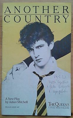 Another Country programme Queen's Theatre 1982 Rupert Everett Kenneth Branagh