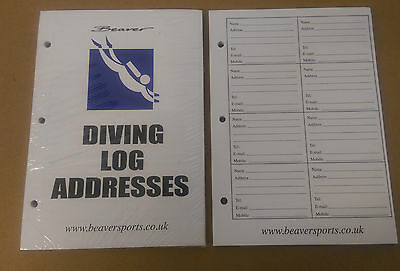Brand New Beaver Address Sheets for a Log Book 50 Sheets