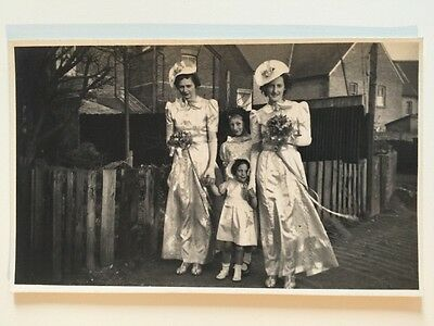 Vintage Postcard - RP Anonymous People - Wedding Group #68