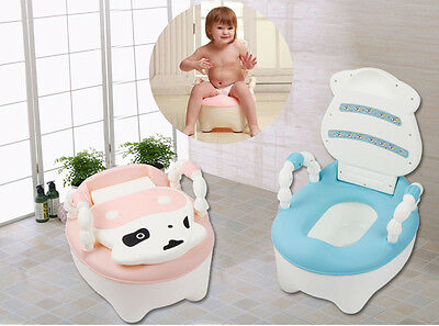 Pink Blue Child Toddler Potty Training Seat Baby Kid Fun Toilet Trainer Chair