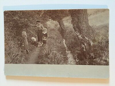 Vintage Postcard - RP Anonymous People - Family Group By Brook #73
