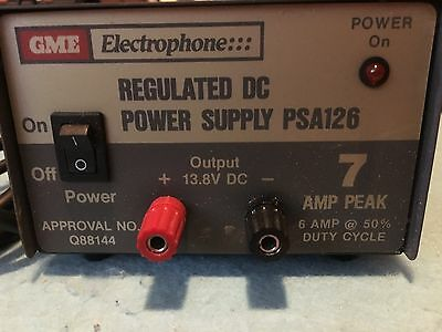 GME PSA126 13.8V 7AMP Peak Regulated DC Power Supply