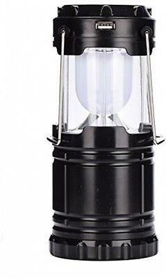 AsiaLONG LED Solar Rechargeable Camping Lantern Collapsible Portable Torch Lamp