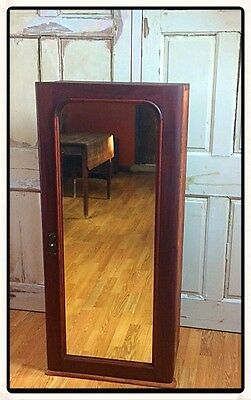 Victorian Mahogany Mirror And Shelved Cupboard Adult Or Children's Wardrobe.
