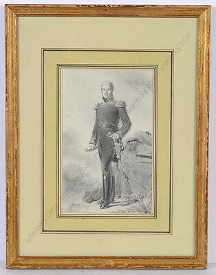 """Edouard Girardet """"General Jean-Victor-Marie Moreau"""", important drawing!, 1836/45"""