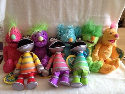 THE HOOBS Cute Small 8 Inch Beanie Set Of 8 All New By Tomy Rare Jim Henson 2001