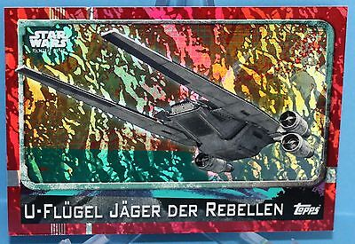 Topps Star Wars Rogue One Glitzer / Foil Karte Nr.165 U-Flügel Jäger d.Rebellen