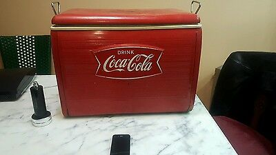 old coca cola cooler fish tail not perfect 7 out 10