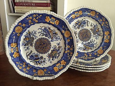 Set Of Antique Early Spode Plates Georgian Trophies Pattern