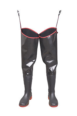 STRONG Fishing THIGH Waders HIP BOOTS PVC like Latex  Sizes 7-14,5 Mud Quality