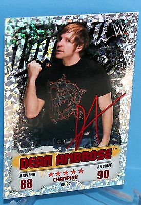 Topps WWE Slam Attax Takeover Karte Nr.22 Dean Ambrose - Champion in Red