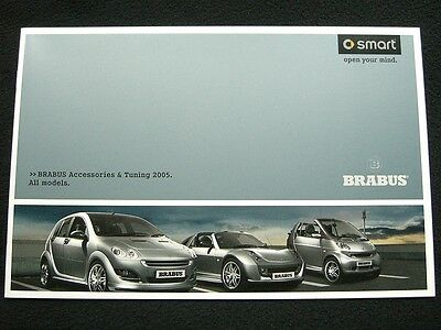 Smart Brabus - Accessories & Tuning 2005 - UK Brochure (ForTwo ForFour Roadster)