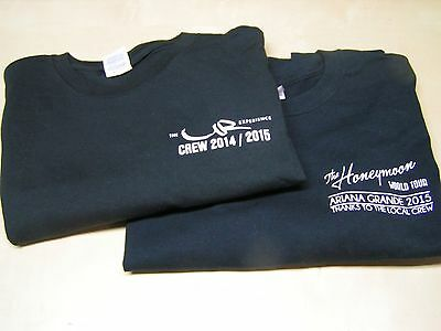 SALE! Usher 2015 Local Crew T-Shirts XL, Black 100% Cotton w/bonus Ariana Grande