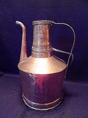 "Antique Copper Turkish Ottoman Tea Pot 12"" Tall"