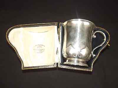 1919 Dated Cased Sterling Silver Mug