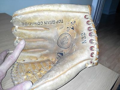left handed NESCO ALL STAR baseball glove GOOD Condition, N32 Top Grain Cowhide