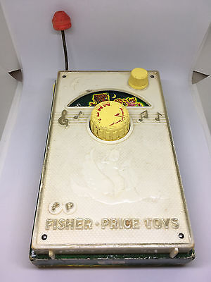Vintage 1968 Fisher Price OLD WOMAN LIVED IN A SHOE Music Box Radio (Working)