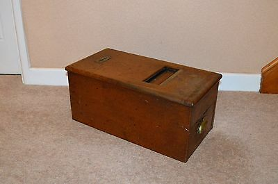Antique Solid Mahogany Cash Register Made By G H Gledhill and Sons Ltd