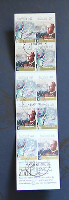 2001 CENTENARY OF FEDERATION - 10x 49c self-adhesive stamp booklet CTO Barton