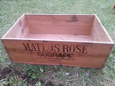 Vintage Mateus Rose Wooden Box