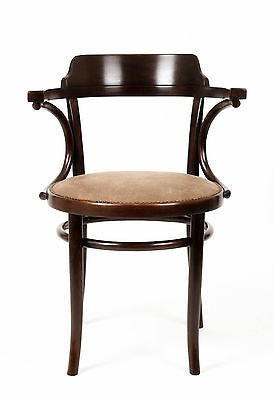 Art Deco Thonet Bentwood Armchair Elbow Office Chair Industrial Furniture Gift