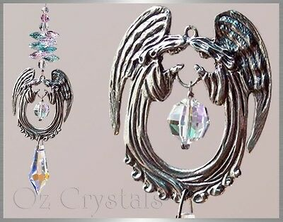 Praying Angels Suncatcher Made with Swarovski & Australian Pewter - Any colour/s