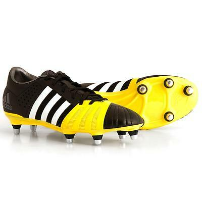 adidas Mens FF80 Pro 2.0 XTRX SG Rugby Boots Core Black/White/Bright Yellow