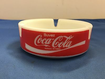 Coca-Cola Ashtray Vintage Original Buvez (Enjoy) Coca-Cola Ceramic Ashtray