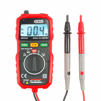 Pocket Digital Multimeter, Dr.Meter Mini Auto Range Multi Tester, AC/DC Voltage,