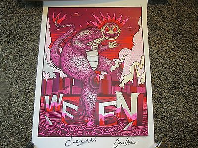 Ween Poster Signed and Autographed San Francisco October 14-15, 2016