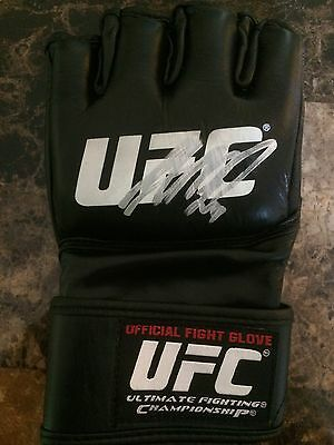 GSP Georges St Pierre Signed Auto UFC Official Fight Glove Conor Champ MMA