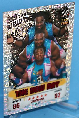 Topps WWE Slam Attax Takeover Karte Nr.31 The New Day - Champion in Red