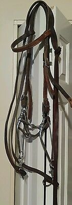 Lovely Western Old Ranch Bridle Pinchless IRON Long Shank Snaffle-Great Cond!
