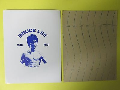 """Bruce Lee """"return Of The Dragon"""" Original Movie Give-A-Way 1973 Mini Poster"""