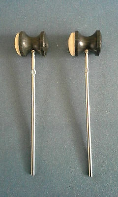 2x Drum Beaters, NEW, White and black!!! Drum Parts (2)