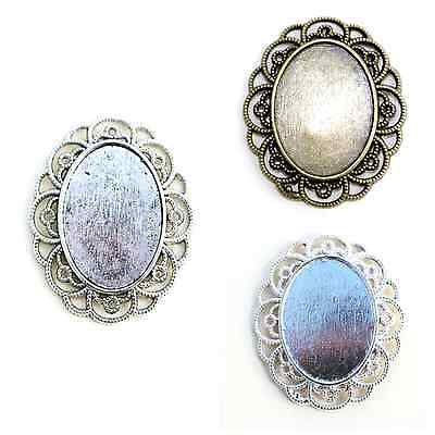 CLEARANCE SECONDS 5 or 10 OVAL CAMEO CABOCHON PENDANT SETTINGS 20 x 27mm tray