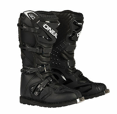 Oneal Rider motocross MX trail & enduro boots black size 11 US (EUR 45) 0324111