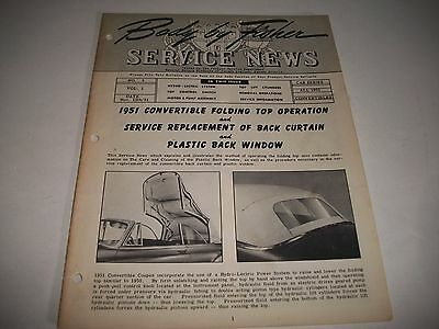 """1951 """"body By Fisher"""" Service News All 1951 Gm Convertibles Operation+Service"""