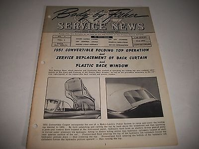 """Gm Oem """"body By Fisher"""" Service News All 1951 Gm Convertibles Operation+Service"""