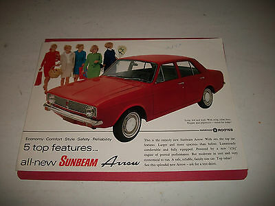 1967 Sunbeam Arrow Sales Brochure Catalog Canadian Market Issue  Cmystore4More