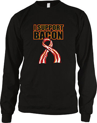 I Support Bacon Pro Love Strips Yummy Delicious Position Eat Food Men's Thermal