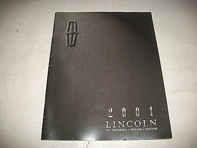 2001 Lincoln Deluxe Full Line Sales Brochure Ls Continental Town Car Navigator