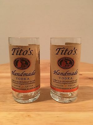 Tito's Vodka 50ml Bottle Shot Glasses Set