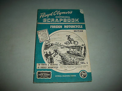 "Floyd Clymer's Scrapbook ""foreign Motorcycle Edition""   Featuring British Bikes"