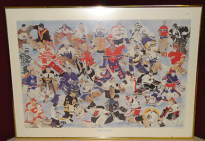 NHL Hockey Heroes 2 II Limited Edition Print Signed by Brad J. Haley 185/589