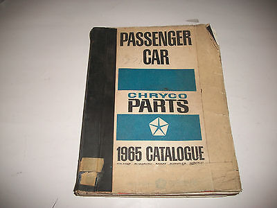 1965 Chryco Illustrated Master Parts Catalog Dodge Chrysler Plymouth Imperial