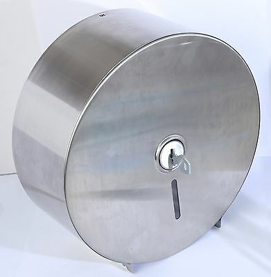 """Stainless Steel Jumbo 9"""" Towel Dispenser With Paper Roll"""