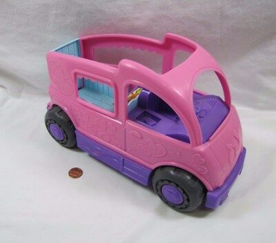 New! Fisher Price Little People PINK PONY HORSE TRAILER TRUCK VAN VEHICLE FARM