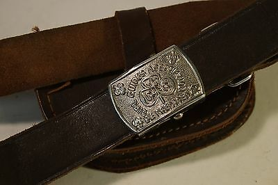 Vintage Retro Girl Guides Belt with Pouch Small-Medium